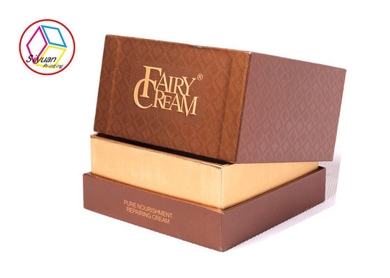 Brown Gift Box Kosmetik, High End Beauty Box Fitur Dapat Didaur Ulang